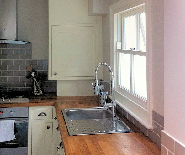 A corner of a newly refurbished kitchen